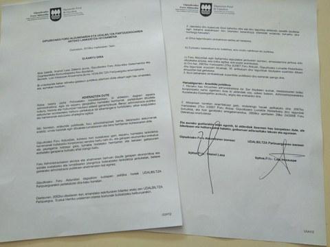 Diputación Foral de Gipuzkoa y Udalbiltza firman un convenio de colaboración